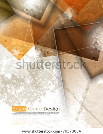 vintage corporate background. eps10 vector - stock vector