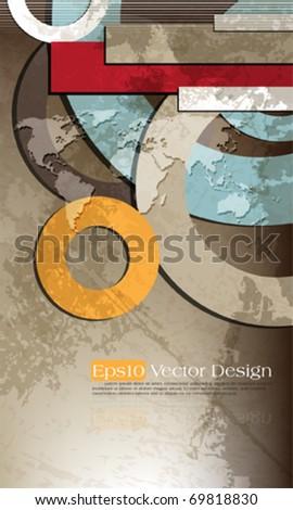 Vintage corporate design. eps10 vector - stock vector