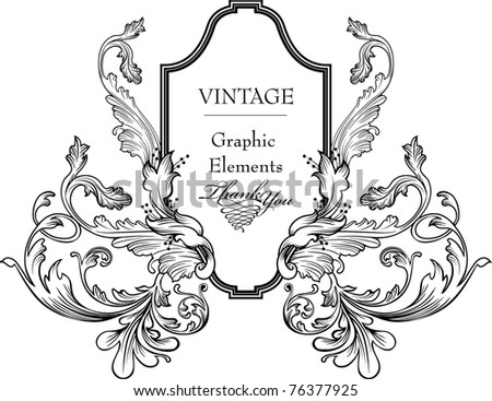 vintage cover - stock vector