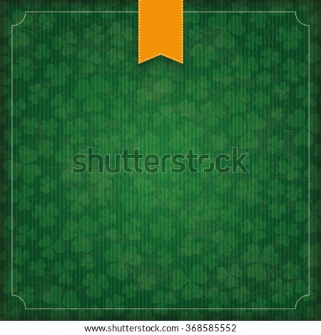 Vintage cover with flag and frame for St. Patrick's Day. Eps 10 vector file. - stock vector