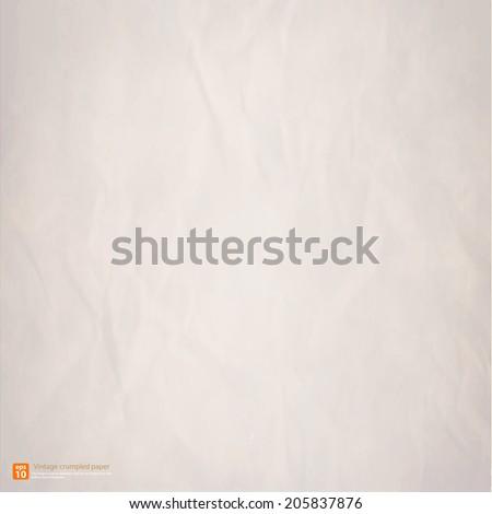 Vintage crumpled paper texture vector format - stock vector