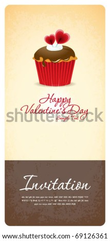 Vintage cupcake background 03 - stock vector