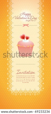 Vintage cupcake background 09 - stock vector