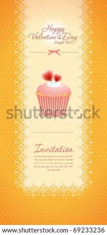 Vintage cupcake background 09 - stock vector