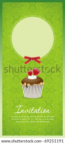 Vintage cupcake background 10 - stock vector