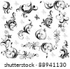 Vintage decor (black and white) - stock vector