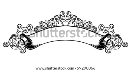 Vintage decoration scroll vector - stock vector