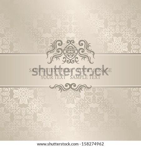 Vintage decorative border. Seamless background in pastel colors. Wedding invitation    - stock vector