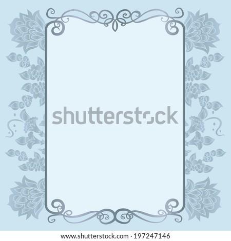 Vintage decorative border.Wedding invitation. - stock vector