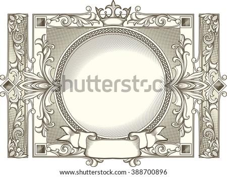 Vintage decorative design - stock vector