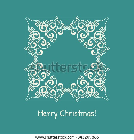 Vintage decorative frames and borders. Vector illustration. - stock vector