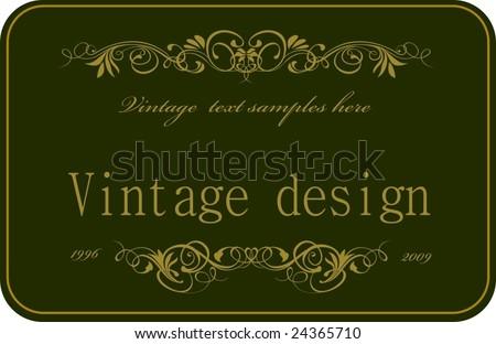 Vintage design card 1 - stock vector