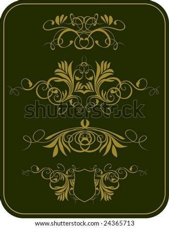 Vintage design card 2 - stock vector