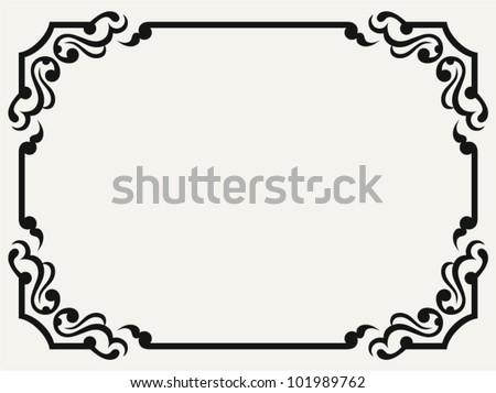 Vintage design elements - stock vector