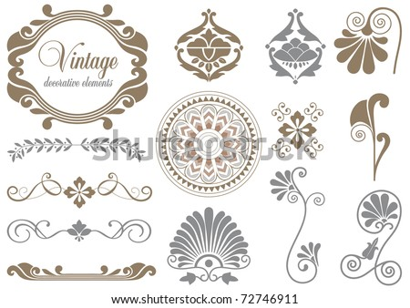 Vintage design elements for decoration - stock vector