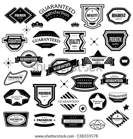 Vintage Design Elements Set Labels Retro Stock Vector 138333578