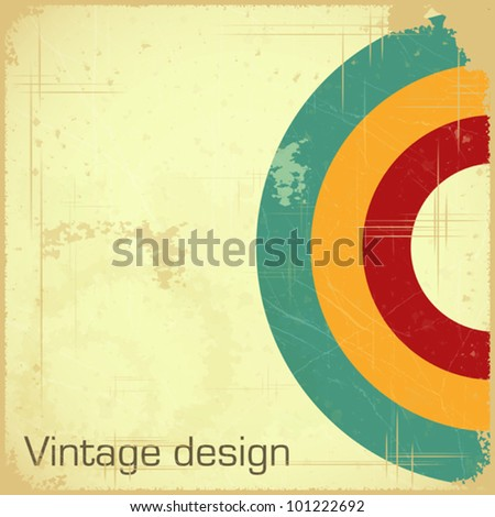 vintage design - retro postcard with place for text - Vector illustration - stock vector