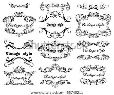 Vintage design. Set. - stock vector