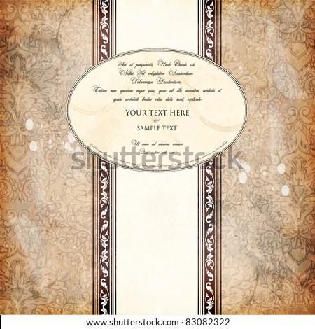 vintage design template - stock vector