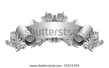 Vintage detailed banner, vector - stock vector