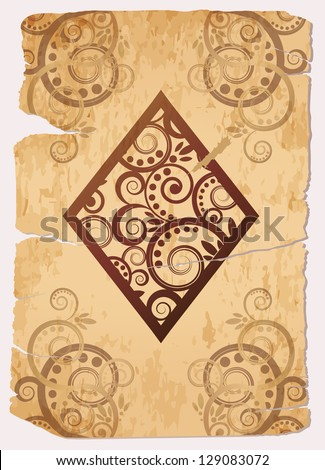 Vintage Diamond�´s ace poker playing cards, vector illustration - stock vector
