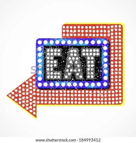 Vintage Diner Sign - stock vector