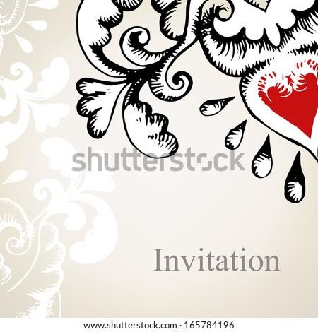 Vintage elegant background for invitations - stock vector