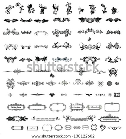 Vintage elements for your design - stock vector