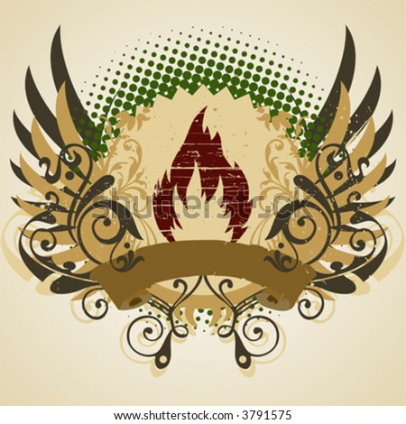 Vintage emblem, design element - stock vector