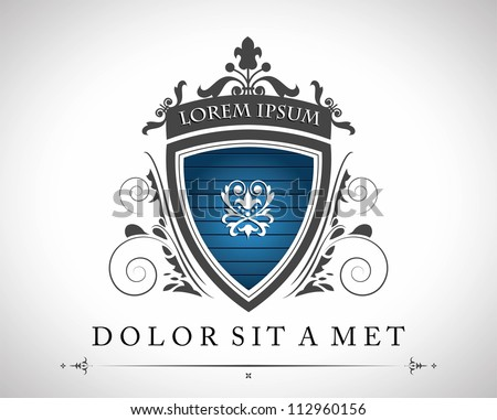 Vintage emblem with a place for Your text - stock vector
