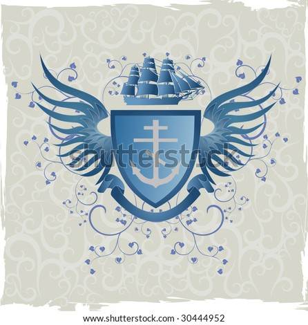 Cross and wings Stock Photos, Illustrations, and Vector Art