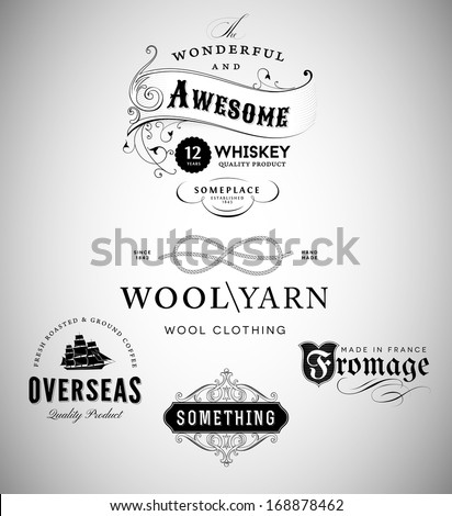 Vintage Emblems Collection - stock vector