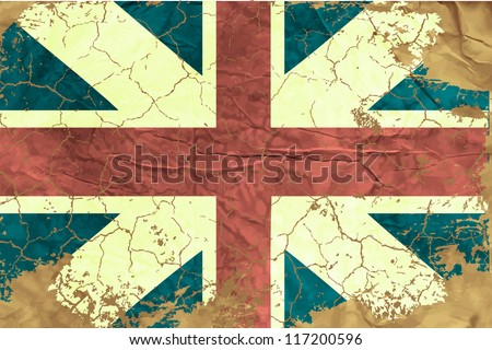 Vintage English flag - stock vector