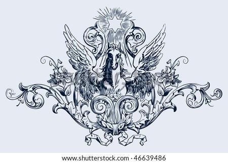 vintage engraving, vector illustration - stock vector