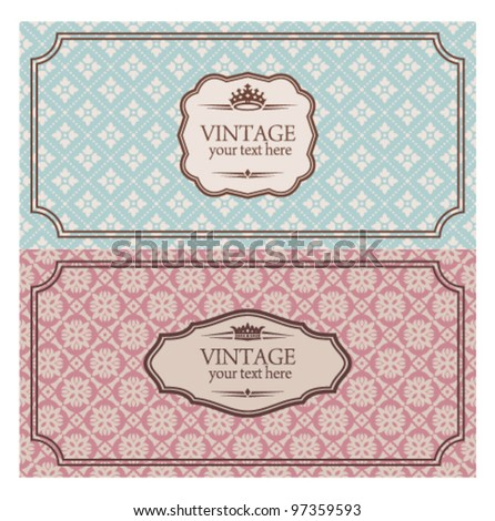 Vintage envelopes - stock vector