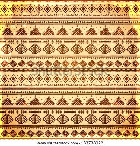 Vintage ethnic seamless - stock vector