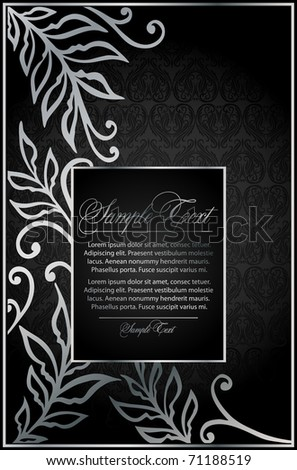 vintage floral black background