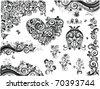 Vintage floral design - stock vector