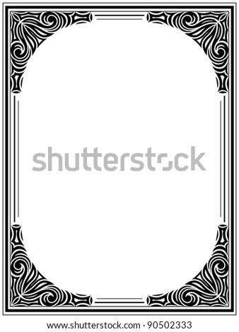 Vintage floral frame. Decorative pattern. Vector illustration. - stock vector