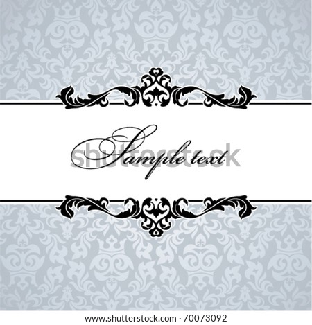 Vintage floral frame. Great for greeting cards and invitations. - stock vector