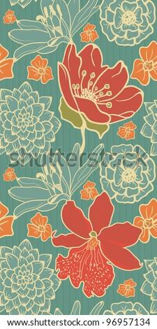 Vintage Floral Pattern - stock vector