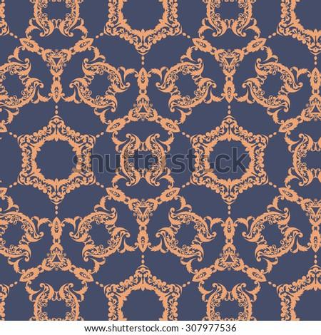 Vintage floral pattern. Decorative background. Vector Illustration - stock vector