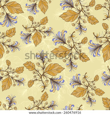 Vintage floral pattern. Repeat many times. Vector illustration eps 10 - stock vector