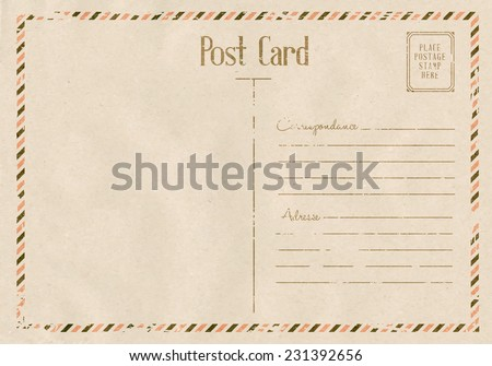 Vintage floral postcard on old paper texture. Vector illustration. - stock vector