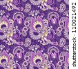 vintage floral seamless paisley pattern - stock photo