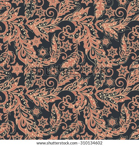 vintage floral seamless pattern. retro vector background