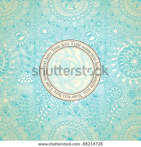Vintage floral seamless pattern vector illustration - stock vector