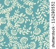 Vintage floral seamless pattern. Vector. Seamless texture with flowers. Endless floral pattern. - stock photo