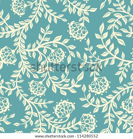 Vintage floral seamless pattern. Vector. Seamless texture with flowers. Endless floral pattern.