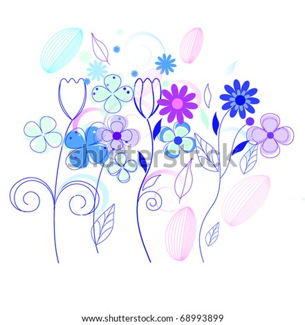 Vintage flower background vector (eps 10) - stock vector